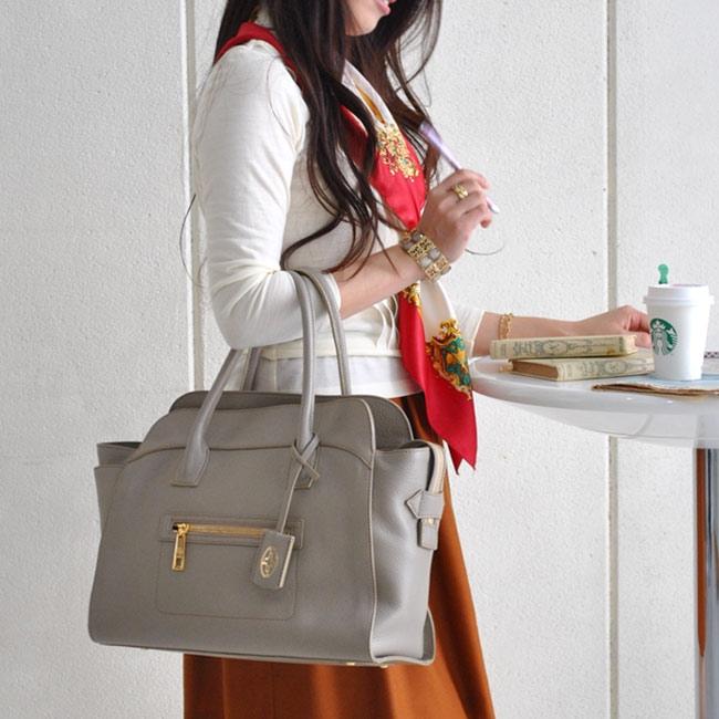 濱野皮革工藝 ハナエルフィオーレ ボクシートートバッグ