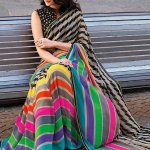 When you buy clothing like sarees online, you need to be aware of so many things like the fabric, the weave, print, embroidery and so much more. There are chances that you order a silk saree and end up getting a synthetic one or you may have to wait for weeks before you get your shipment. Hence while shopping online for sarees you must give preference to trusted and reputed sites only. Myntra is one such site. Read on to find the best saree collection and accessories from this popular site.
