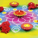 Diwali rangolis with diyas can bring out the festive mood as well as unleash the creativity in you! This age-old tradition thrives and remains alive until now because of its sheer simplicity and beauty that it brings to our living space. This Diwali, try a few rangoli patterns with flowers and diyas to welcome prosperity, good luck and positive vibes! Read on to find amazing Diwali rangoli ideas better for yourself.