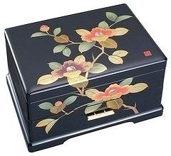 会津塗りオルゴール宝石箱