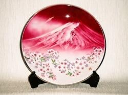 七宝焼 赤富士