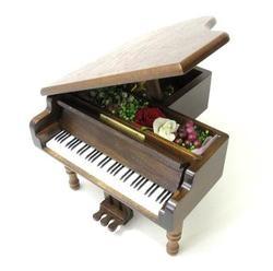 ミニアンティーク木製オルゴール・グランドピアノ