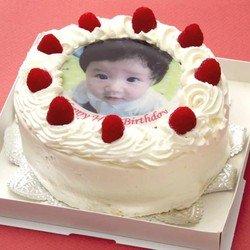 オリジナル写真のデコレーションケーキ