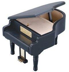 グランドピアノ(黒)18弁オルゴール付き宝石箱
