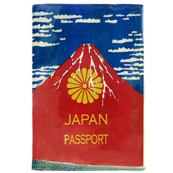 赤富士 パスポートケース