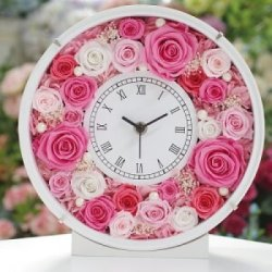 プリザーブドフラワー 時計