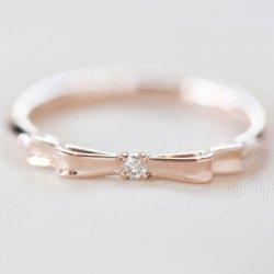 リボン 指輪