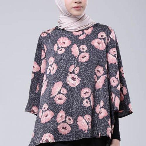9 Pilihan Baju Muslim Motif Bunga yang Cantik dan Modis