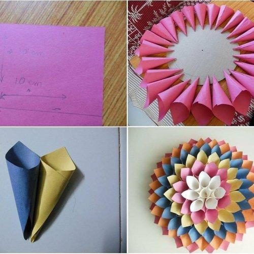 bunga-bunga cantik dari origami - Vidio.com | 500x500