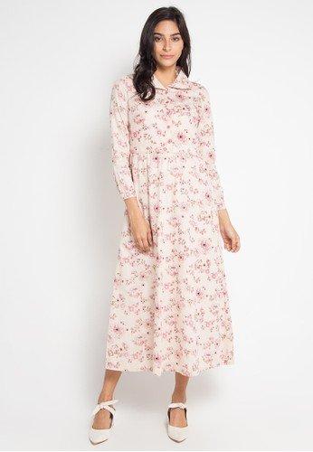 Tampil Bergaya Vintage Dengan 10 Rekomendasi Baju Muslim Bermotif Bunga