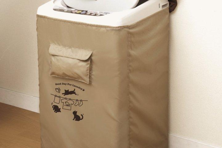 洗濯機をいつまでもきれいに保つ取り付け簡単な「洗濯機すっぽりカバー ベージュ ネコ柄」の開発秘話を紹介 アイメディア株式会社