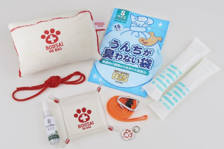 もしもの時に必要なペットのためのアイテムが厳選された「ペット防災バッグ[BOUSAI GO BAG]」の開発秘話を特集!|株式会社たかくら新産業