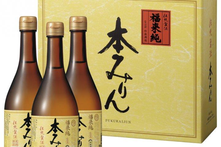 国産のもち米と米麹、米焼酎の3つの原料を使った「福来純『伝統製法』熟成本みりん」の開発秘話を取材!|白扇酒造株式会社