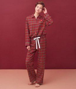 両面起毛フランネルシャツパジャマ