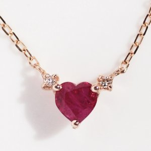 Sweets Jewelry Market ハートルビー 0.01ct ネックレス