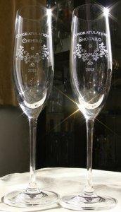 メッセージ彫刻グラス