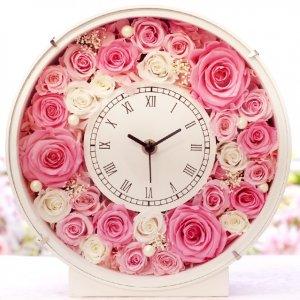 プリザーブドフラワーの時計
