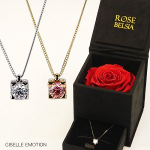 GISELLE EMOTION スワロフスキージルコニア・1カラットネックレス×ROSE BELSIA限定セット