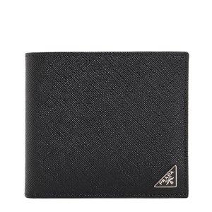 三角ロゴプレート 二つ折り 財布