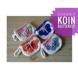Dompet Koin Rajut Butterfly