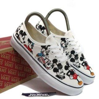 Sepatu Vans Wedges Cewek Motif Mickey Mouse