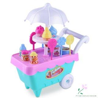 Mainan Troli Es Krim Mini Dapat Dilepas Untuk Bermain Peran Anak