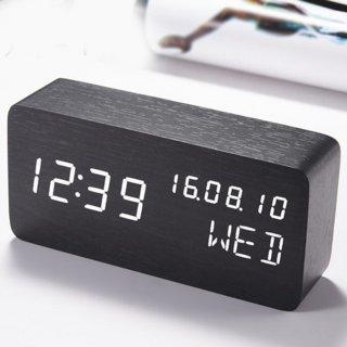 Jam Meja Elektronik Unik Multifungsi dengan Pengontrol Suara dan Alarm