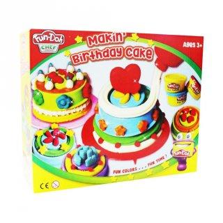 Fun Doh Making Birthday Cake