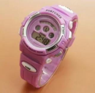 Fortuner Digital - Jam Tangan Perempuan - Rubber Strap - FR 1600 Purple