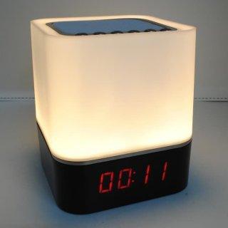 3 In 1 Jam Alarm Speaker Bluetooth Lampu Tidur RGB LED XGS001