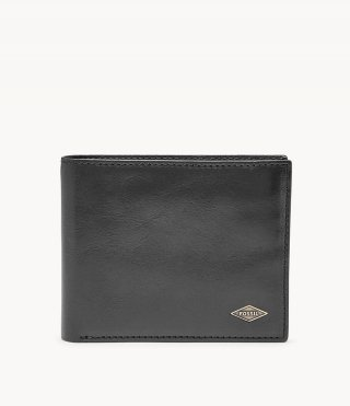 Fossil Ryan RFID Black Leather Flip ID Wallet