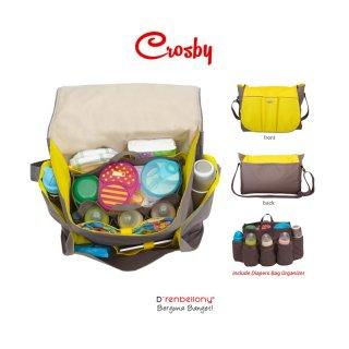 D'renbellony Crosby Baby Bag (Yellow) / Tas Bayi / Tas popok / Tas Diaper bag