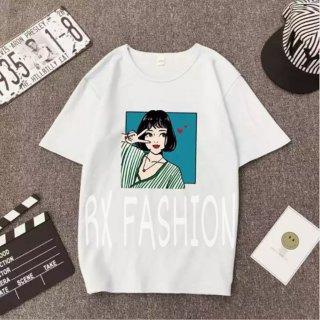 RX Fashion Pose Girl Tee - Kaos Wanita Tshirt Tumblr