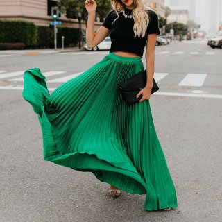 High Waist Women's Maxi Skirts Floor Length Solid Long Skirt Ladies Loose Bottoms Female Skirt