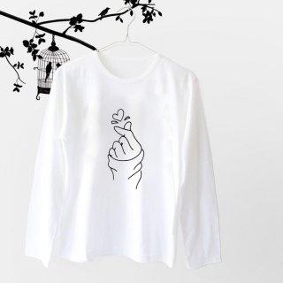 Kaos Wanita Lengan Panjang Sarang Warna Putih