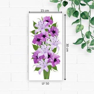 Fasahaya Hiasan Dinding Poster Kayu Leaf Dekorasi Rumah 15x30 LF50