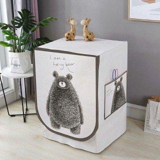 Cover Mesin Cuci Buka Depan 1 Tabung Type B Premium - Furry Bear
