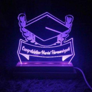 WISUDA + NAMA Mood Light Acrylic / Lampu Tidur Akrilik