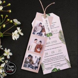 Undangan Pernikahan Hang Tag Tema Green Leaf