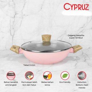 Cypruz - Pink Ceramic Series kuali 26cm