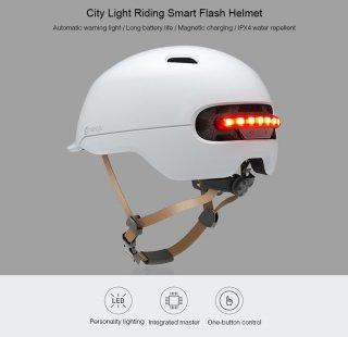 Helm Sepeda Xiaomi Youpin Smart4u City Light Riding Smart Flash
