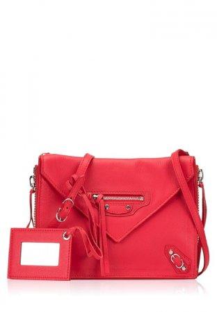 Balenciaga Papier Triple Zip Xs Crossbody Rouge Tango