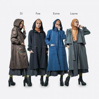 Duende Layne Coat   Jaket Hoodie Muslimah APD