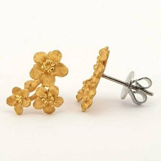 Anting Emas 24karat Jennifer Floral 24K Earring - EEG 0200