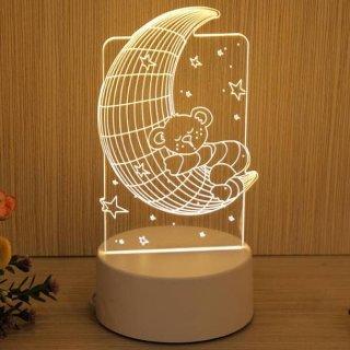 LED 04-Lampu Tidur Hias LED 3D Acrylic
