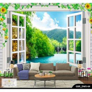 Wallpaper 3D Wallpaper Custom Wallpaper Dinding Pemandangan Alam 2
