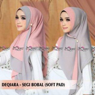 Jilbab Instan Segi 3 Bobal (Bolak Balik) Flower Original Deqiara Hijab