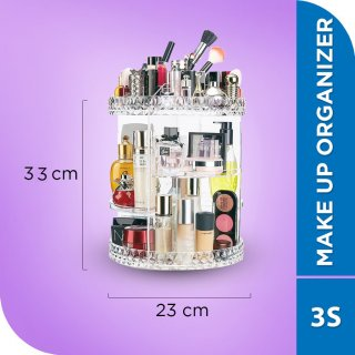 Goto Cosmetic Organizer Acrylic 360 derajat Transparant Rak Make Up