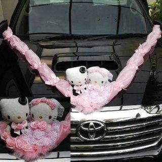 Hiasan Boneka Wedding Mobil Pengantin Hello kitty 4901 Produk The Best