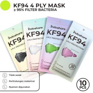 Indoshare Masker KF94 Earloop Mask 4ply